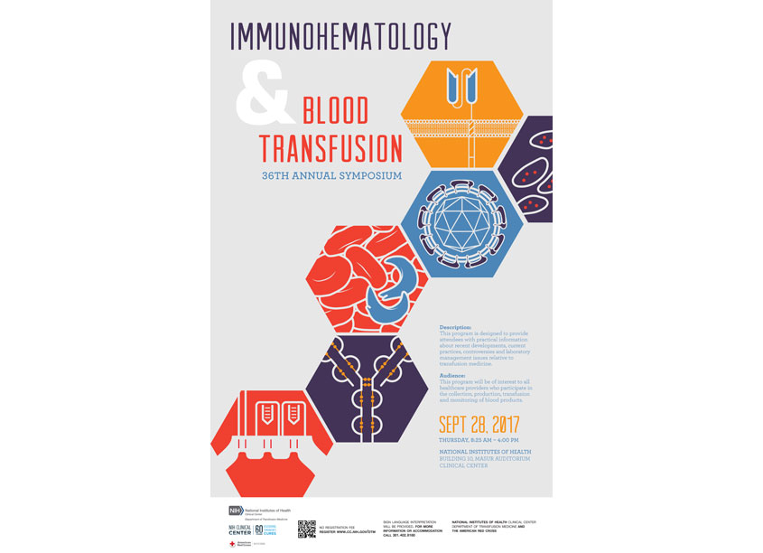 National Institutes of Health Medical Arts Immunohematology & Blood Transfusion 2017 Symposium Poster