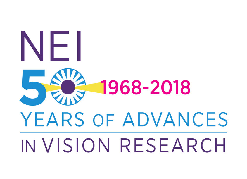 National Institutes of Health Medical Arts National Eye Institute 50th Anniversary Logo