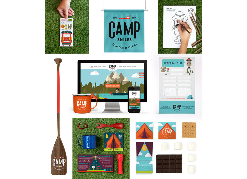 Camp Smiles Brand Identity by Test Monki