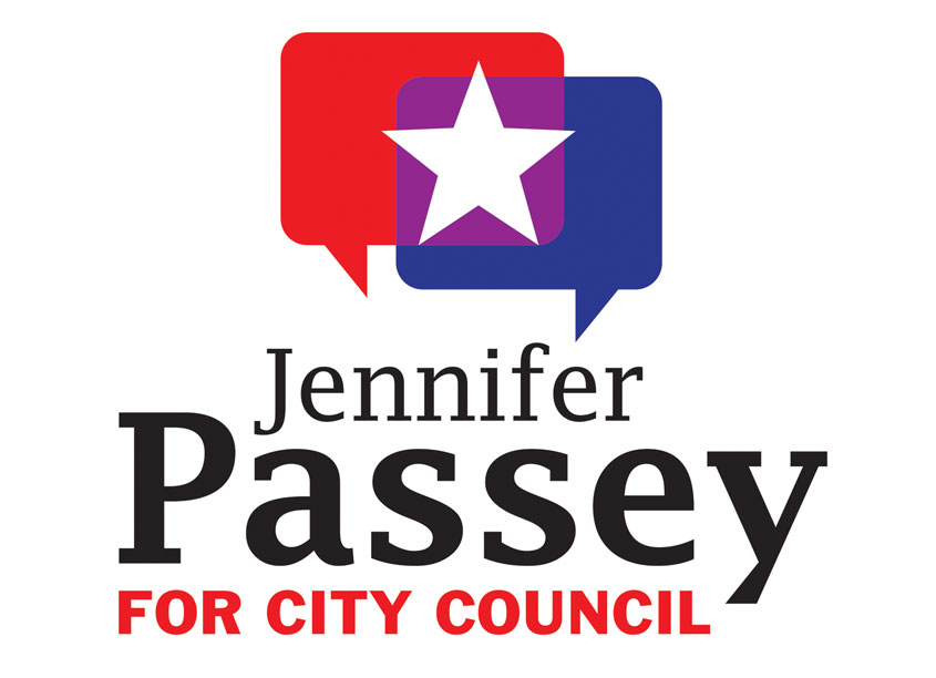 Jennifer Passey for City Council Logo by Laura Bonapace