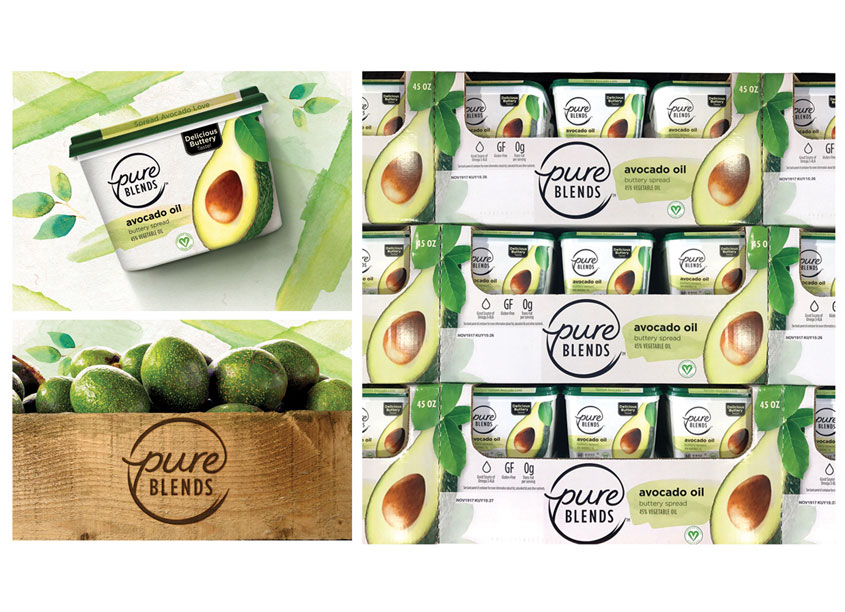 1HQ USA  Pure Blends™ Package Design