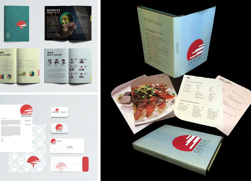 Genzai Restaurant Branding by Kennesaw State University