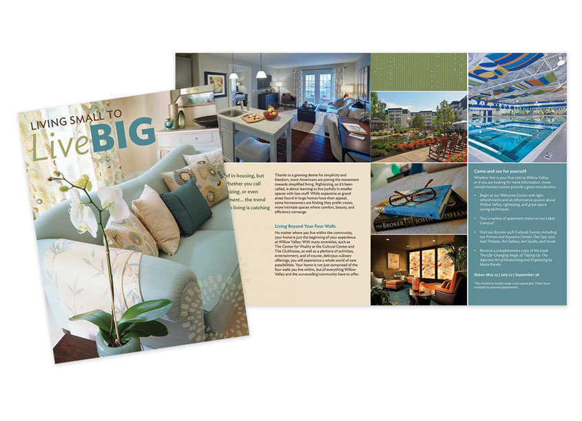 Living Small to Live Big Brochure by Willow Valley Communities
