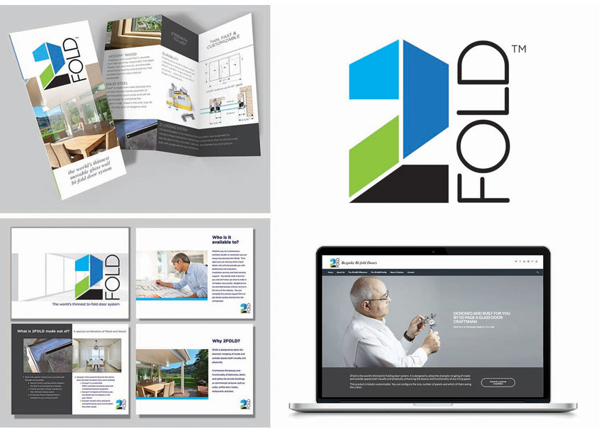 2 Fold Doors Brand Identity by Hudson Valley Graphic Design, LLC