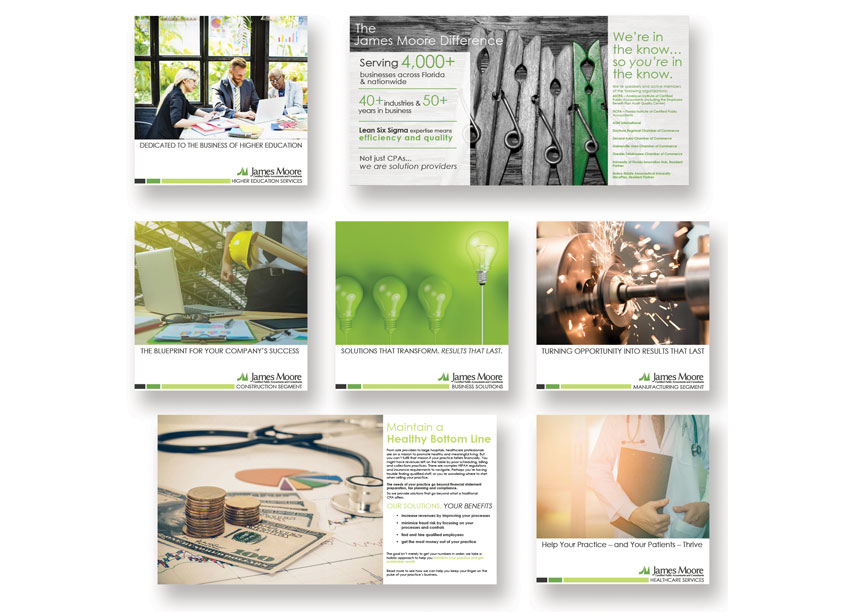 Capabilities and Solutions Brochure Series by James Moore and Co.