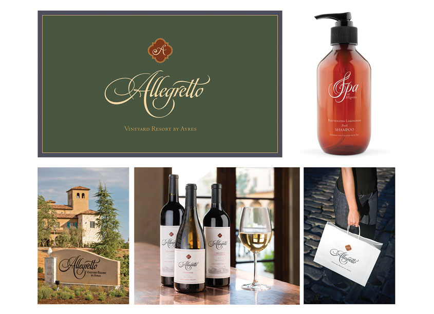 Mark Oliver, Inc. Allegretto Vineyard Resort Brand Identity