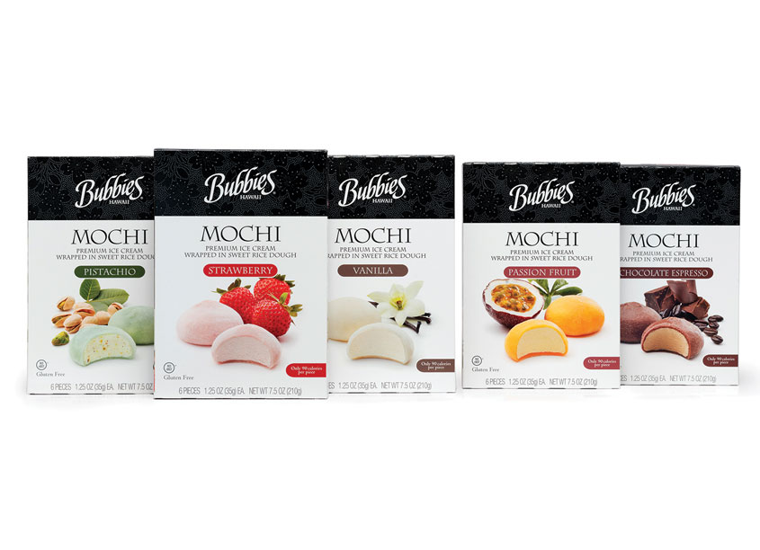 Mark Oliver, Inc. Bubbies Hawaii Mochi Package Design