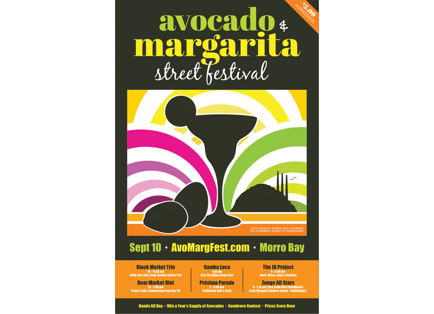 Avocado & Margarita Street Festival Poster by HB Design