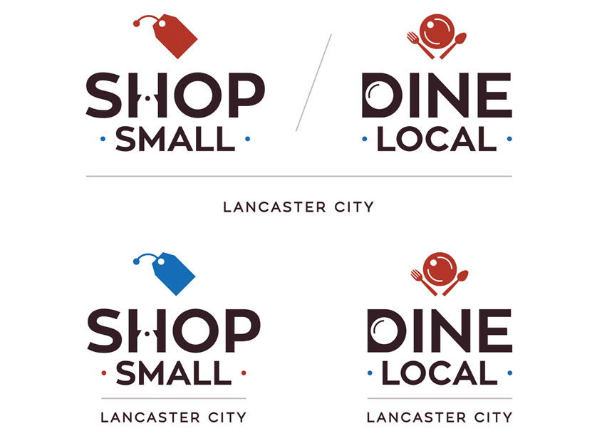 Shop Small/Dine Local Identity by GoodThree