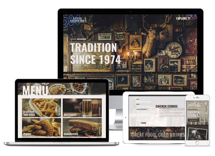 Dixie Chicken Web Design by Drift