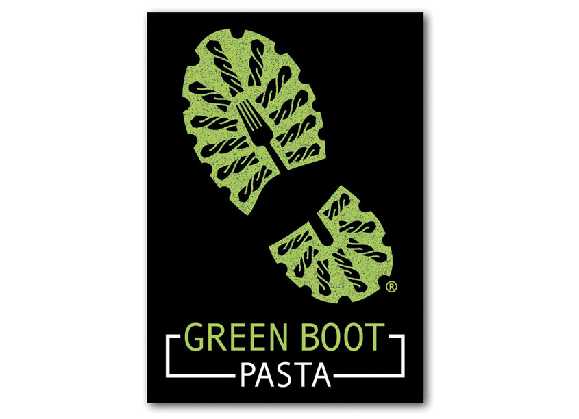 The Formation Creative Consultants Europe Ltd. Green Boot Pasta Logotype