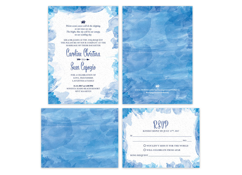 CSE Identity Design  Autry-Capozio Wedding Stationery