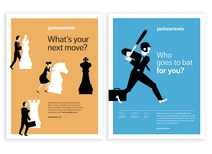 Behavior Design  Jackson Lewis National Print Advertisements