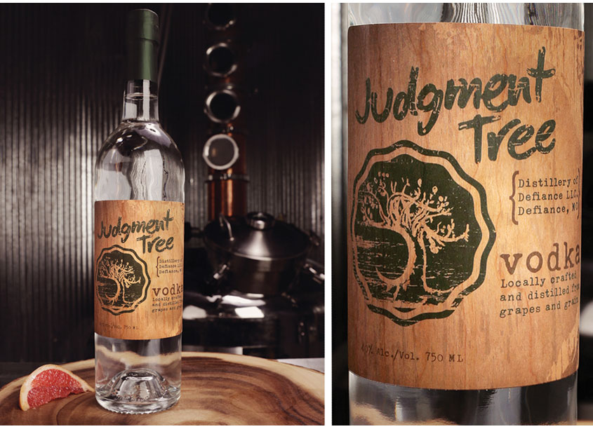 BFM Group Inc.  Judgment Tree Vodka Label