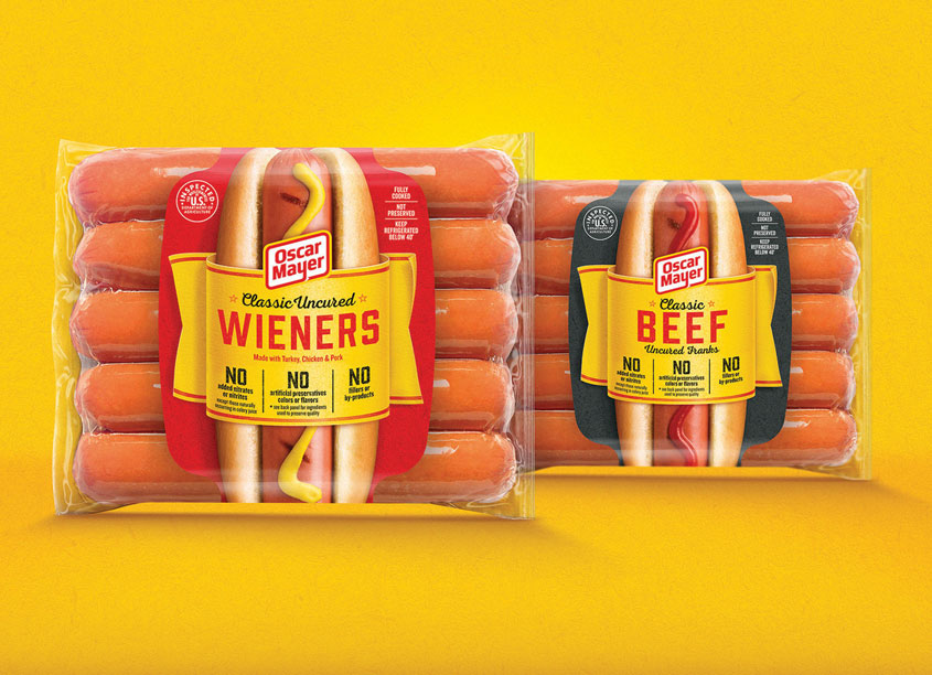 Oscar Mayer Hot Dogs Packaging by Bulletproof