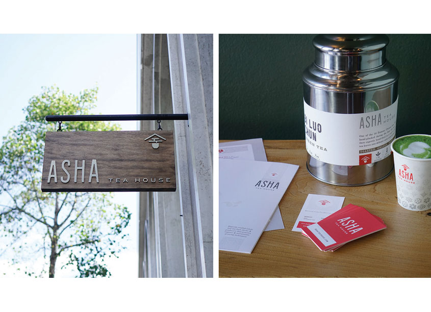 Asha Tea House Integrated Branding Program by Chen Design Associates