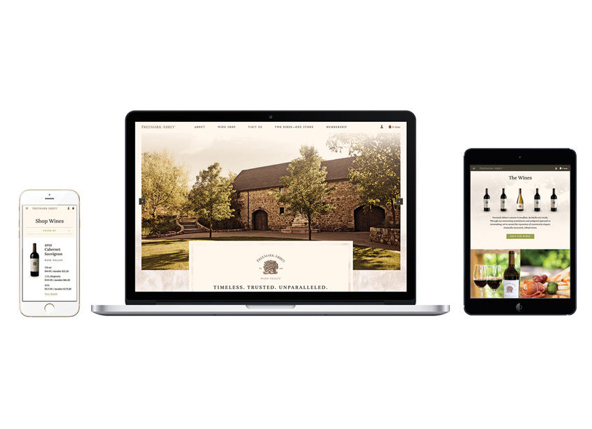 Freemark Abbey Website Redesign by Chen Design Associates