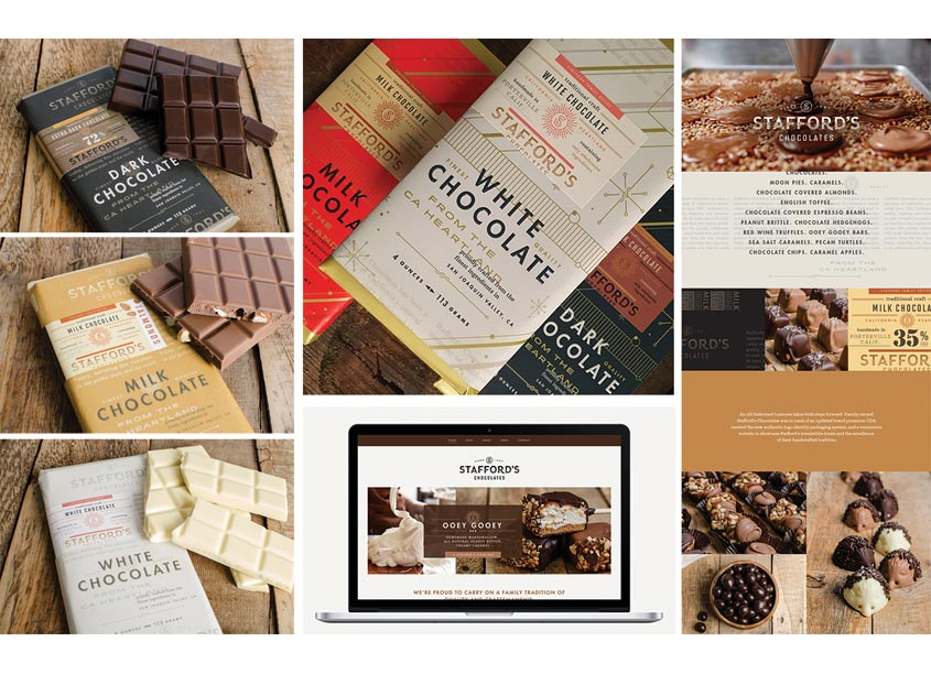 Stafford Chocolates Integrated Branding Program by Chen Design Associates