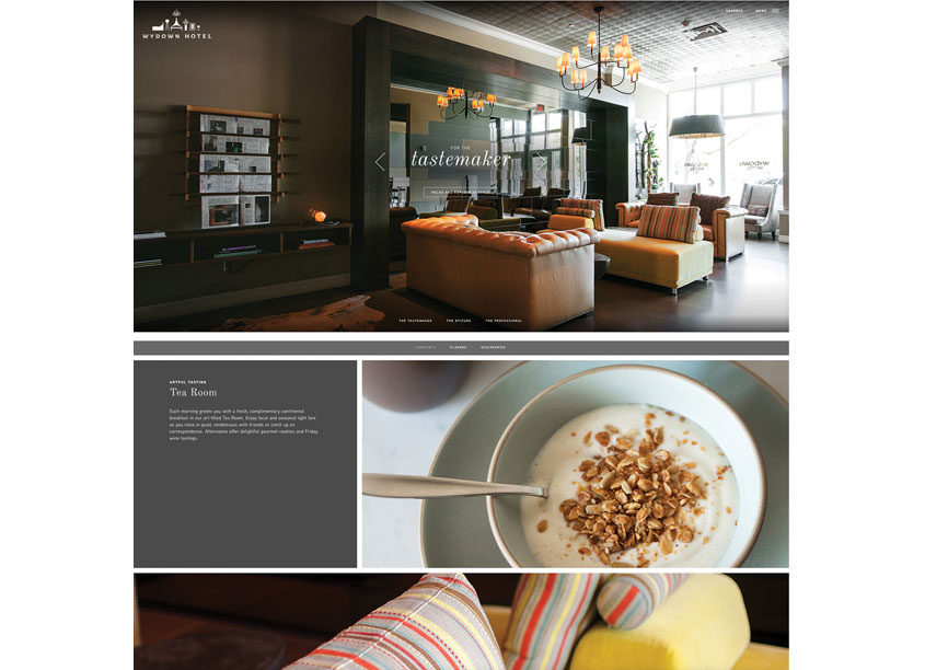Wydown Hotel Website Redesign by Chen Design Associates