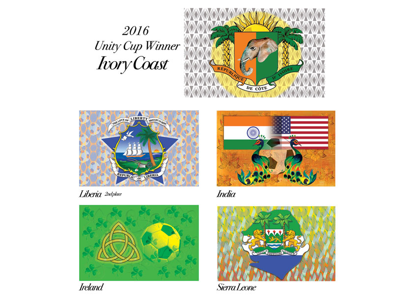Unity Cup Games Flags by Monna Morton Design