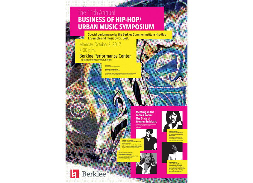 Hip-Hop Symposium Poster by Berklee, Marketing and Communications
