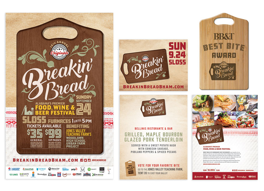 Breakin' Bread Brand Identity by Style Advertising