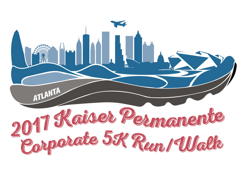 2017 Kaiser Permanente Run/Walk Event T-Shirt Logo by Georgia System Operations Corporation (GSOC)