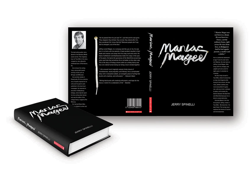 Maniac Magee Book Cover Design by Parsons Design