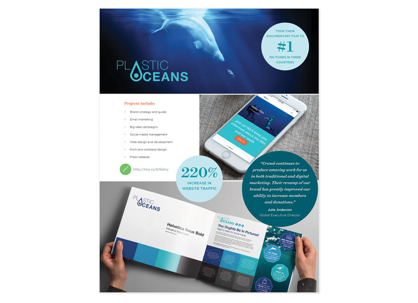 Crowd  Branding and Identity For Plastics Ocean Foundation and A Plastic Ocean Documentary