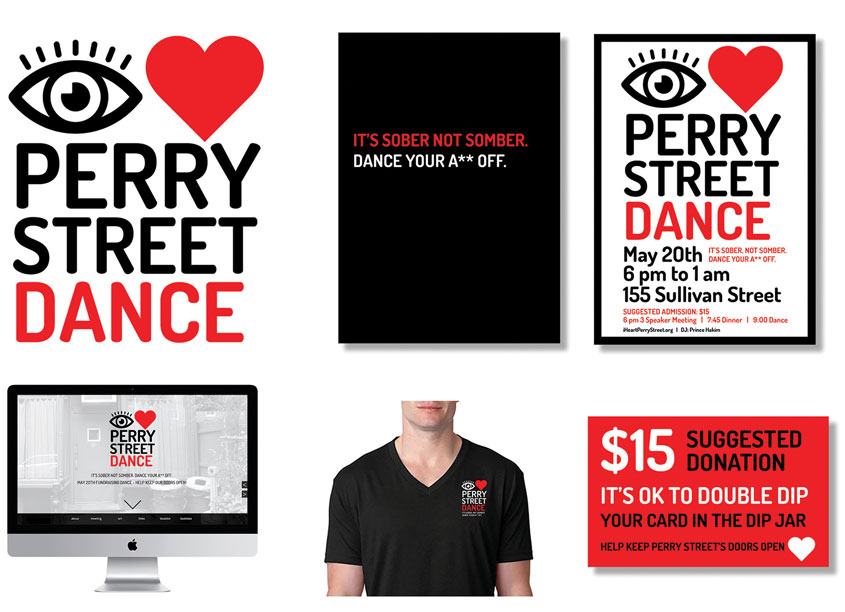 I Heart Perry Street Fundraising Dance Branding by Mermaid, Inc.