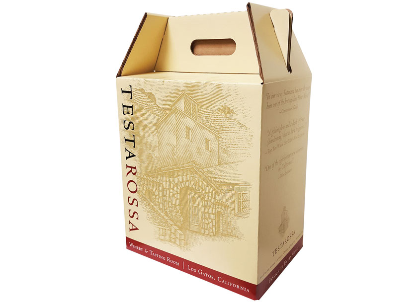 Testarossa Wine Six Pack Carrier Proactive Packaging & Display by Testarossa Design Team