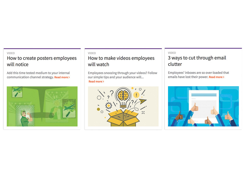 Davis & Company  Employee Communication Channels: Series of Three Videos on Emails, Videos and Posters