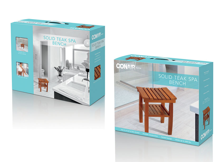 Conair Home Teak Packaging by Conair Corporation