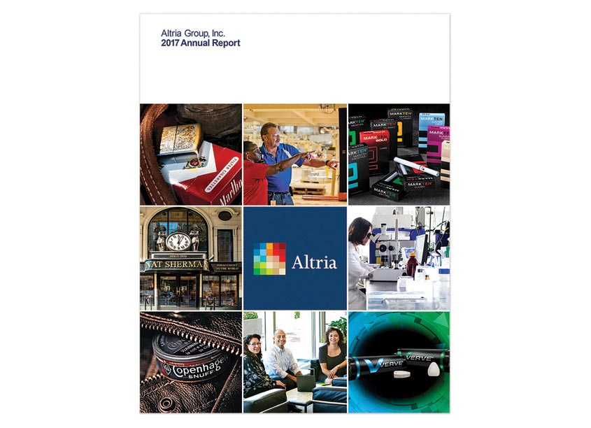 Altria 2017 Annual Report by Andra Design Studio