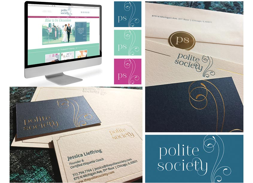 Lu Hickman Creative Co. Polite Society Identity