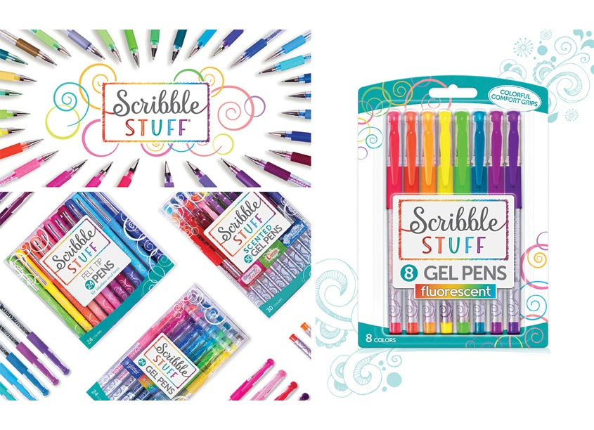 Scribble Stuff Gel and Felt Pens Packaging by McHale Design