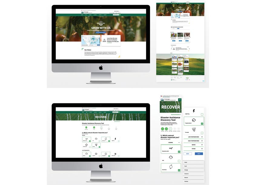 Farmers.gov Grow With Us Website by MetroStar Systems