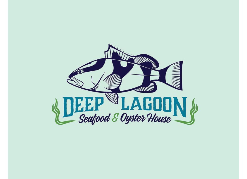 Deep Lagoon Seafood & Oyster House Logo by Phelan Family Brands