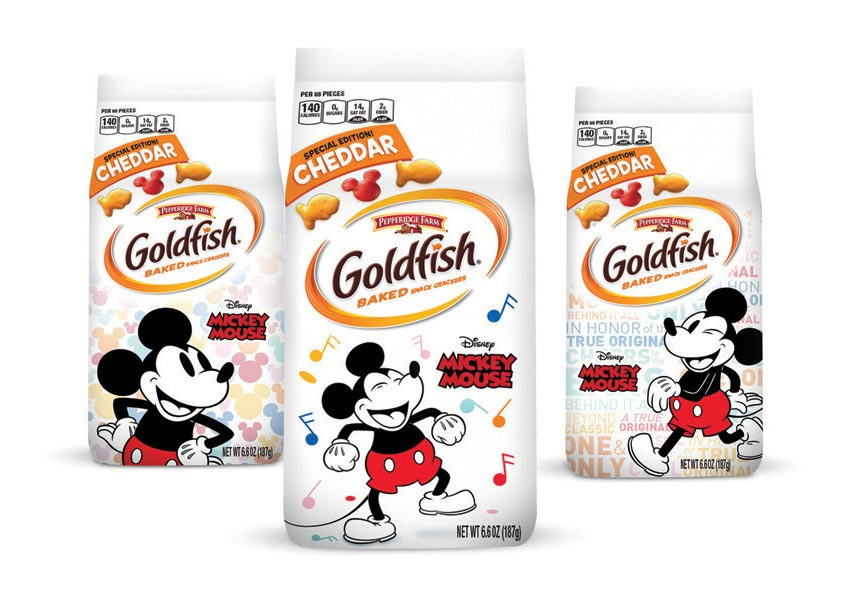 Goldfish Mickey Anniversary Packaging by S2 Design Group