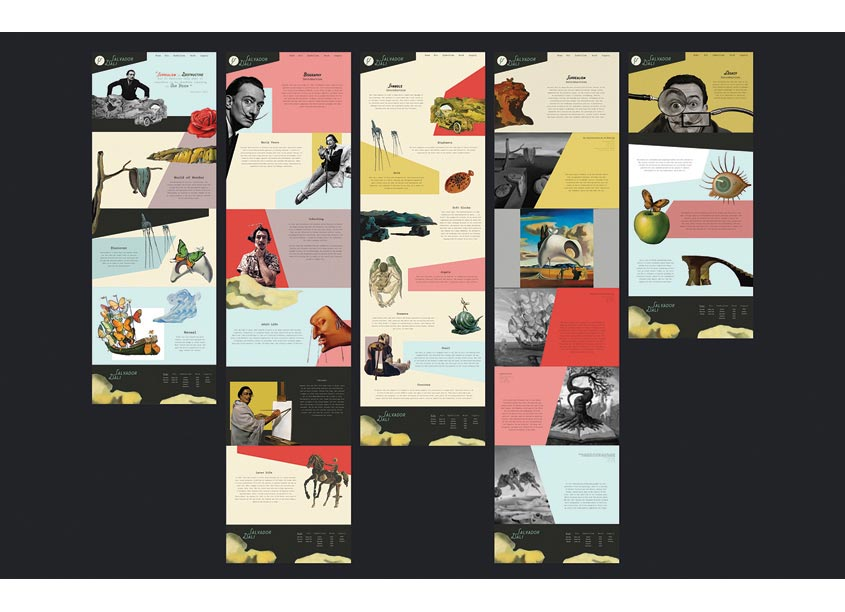 Salvador Dali Website by The Modern College of Design
