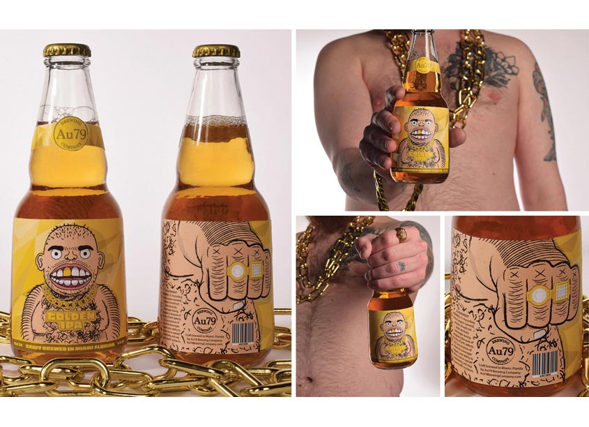 Golden IPA Beer Label by The Modern College of Design