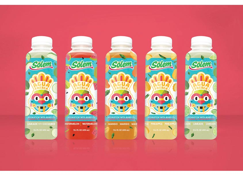 The GRO Agency Solem Agua Fresca Packaging