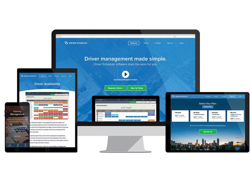 Driver Schedule Website by Web Solutions, Inc.