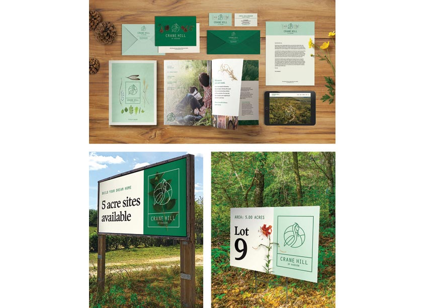Crane Hill Logo and Identity by Christiansen Creative