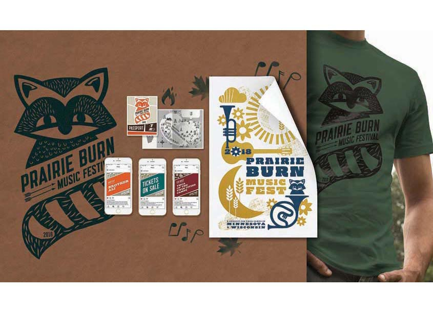 Prairie Burn Music Festival Branding by Christiansen Creative