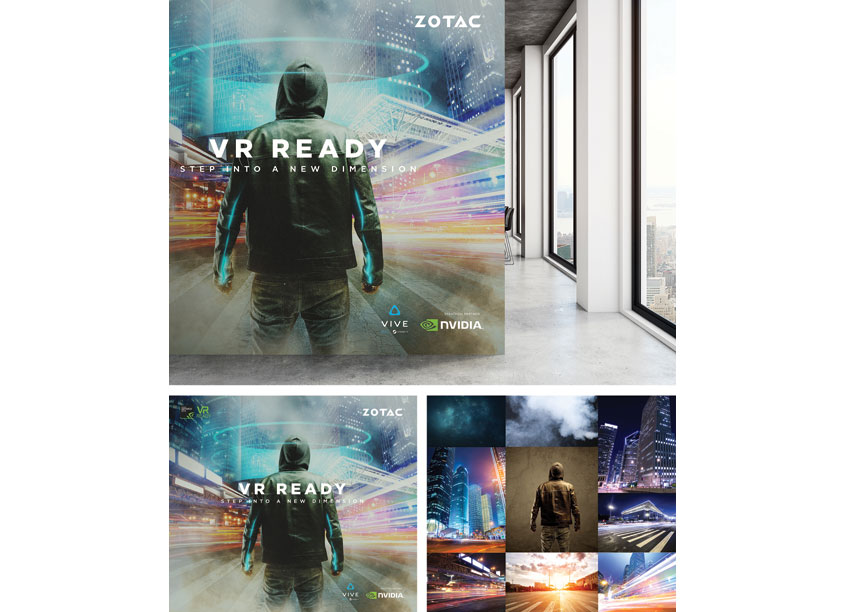 VR Ready Branding Campaign Key Visual by ZOTAC