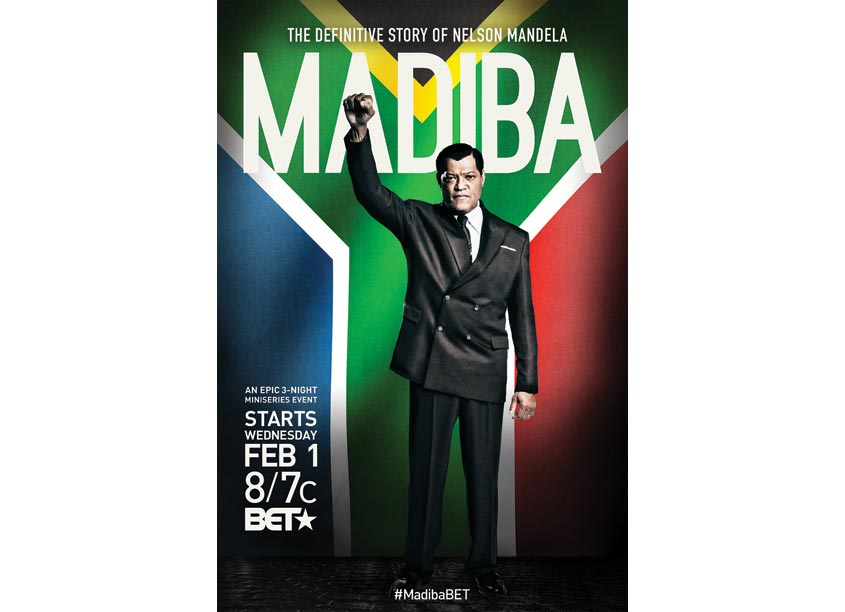 BET Networks MADIBA The Definitive Story of Nelson Mandela Poster