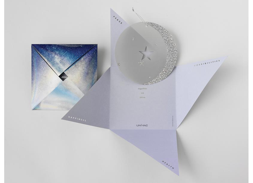Bonavita Design LLC Unimac Holiday Card, Together We Shine