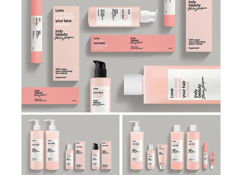 Essen International Indy Beauty Package Design