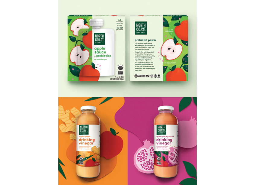 Enlisted Design North Coast Organics Packaging